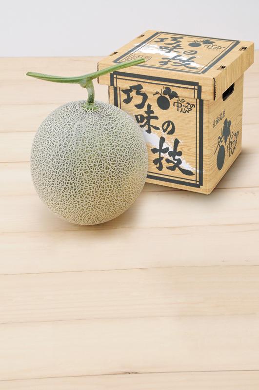 北海道 中富良野産 巧味の技メロン(1玉)【お中元2018】