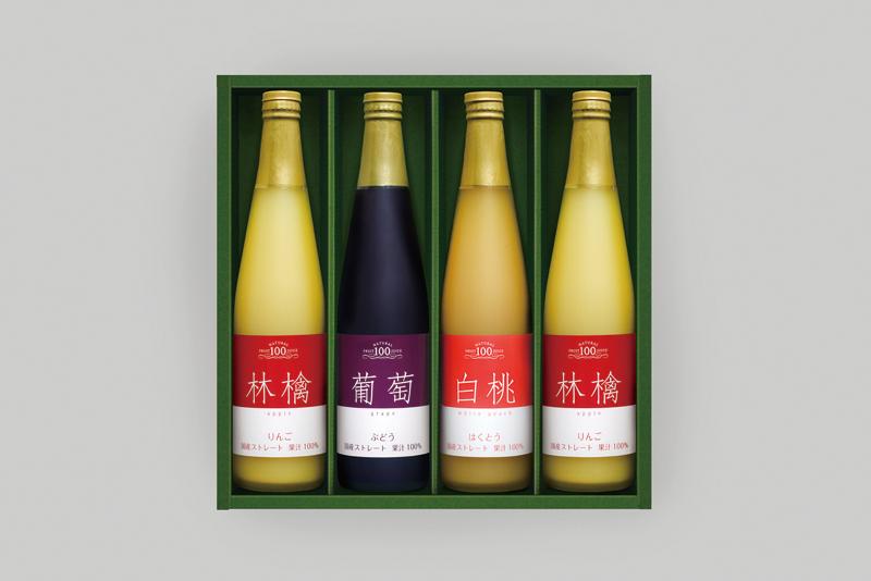 国産ストレート果汁100%ジュースセット(4本) FS30【お中元2018】