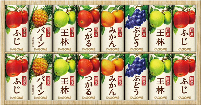 カゴメ 国産100%フルーツジュースギフト(16本) KT-30VR【お中元2018】