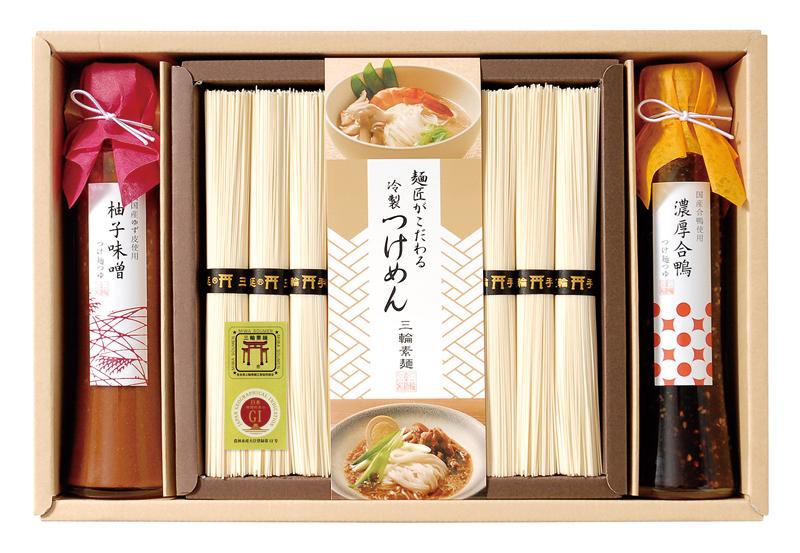 こだわりつけ麺つゆで食べる三輪素麺 DRSN-30【お中元2018】