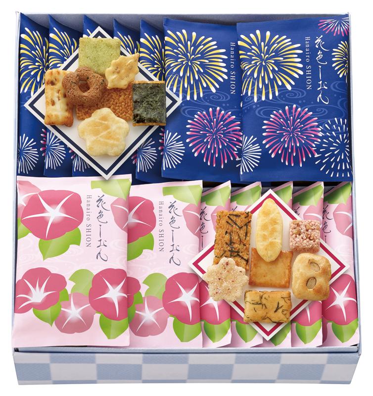 中央軒煎餅 夏花色しおん(18袋)