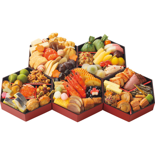 京菜味のむら 和洋折衷おせち 亀甲五段重
