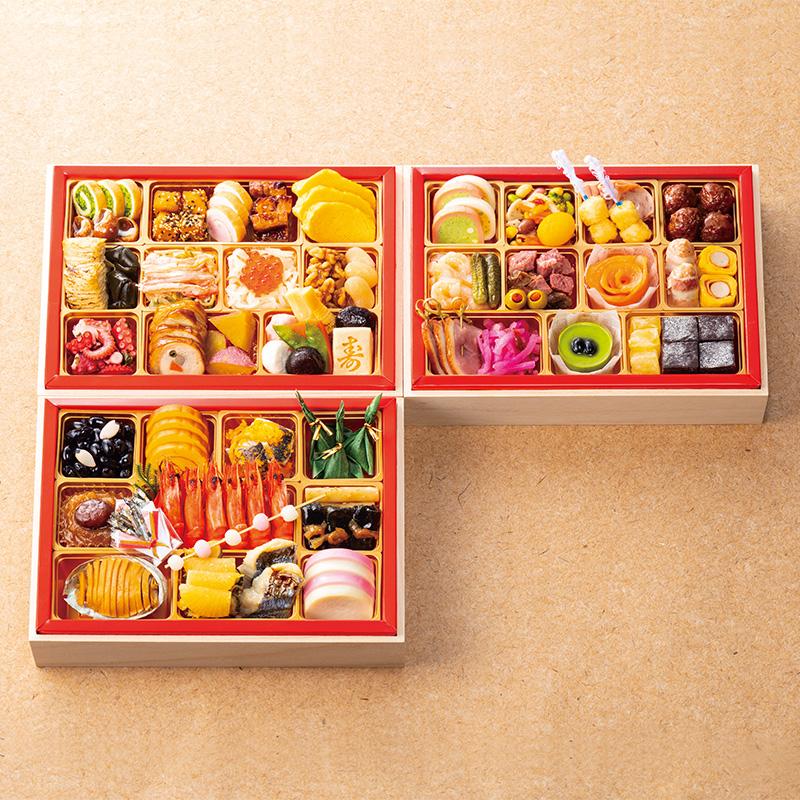 京都現代の名工 神田正幸監修 家族で楽しむ和洋おせち 「団欒」三段重